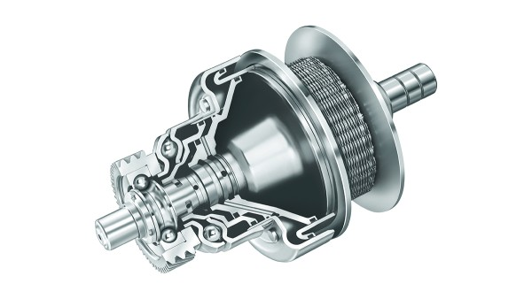 LuK presents CVT components for high torques: LuK chain, disc sets and hydraulics.