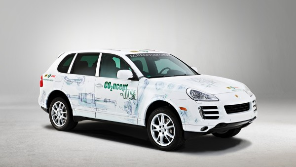 The Schaeffler Group presents its CO2ncept-10% vehicle, a joint advance development project implemented by Porsche and the Schaeffler Group that achieves a total reduction in fuel consumption and CO2 emissions of ten percent by using new and optimized components.