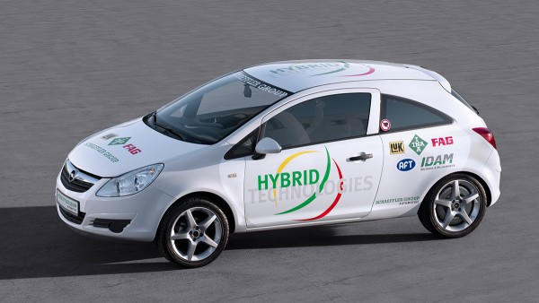 "The Schaeffler Group presents its ""Schaeffler Hybrid""."