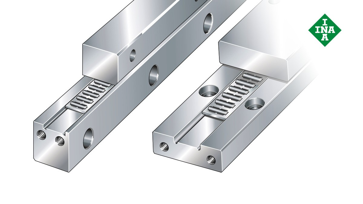 Schaeffler linear guides: J and S guideways with needle roller flat cage